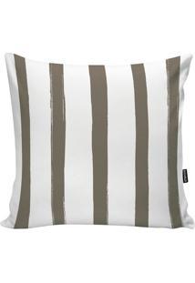 Capa Para Almofada Stripes- Branca & Bege Escuro- 45Stm Home