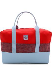 Bolsa Petite Jolie Recortes Vermelha/Azul