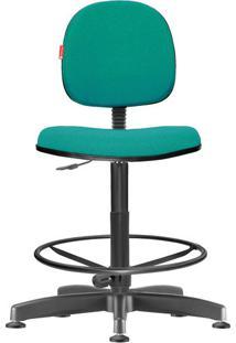 Cadeira Caixa Alta Executiva Giratória Crepe Verde Água