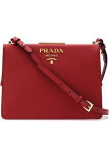 7e4d86f1d R$ 9300,00. Farfetch Bolsa Vermelha Feminina Prada Couro De Grife  Transversal Ombro ...