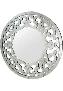 Espelho Veneziano Mandala Cor Prata Redondo 90 Cm - 34315 Sun House