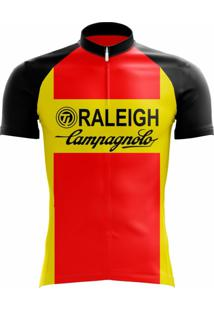 Camisa Uv Scape Ti Raleigh Retro Vermelha