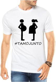 Camiseta Criativa Urbana Gestantes Frases Engraçadas Papai - Masculino-Branco