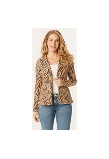 Blazer Animal Print Moletom Malwee