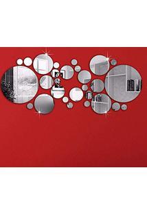 Espelho Decorativo Conjunto De Círculos Em Acrílico 27 Peças