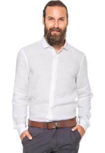 Camisa Linho Vr Básica Branca