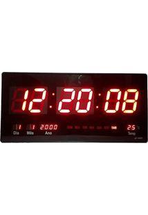 eeb94a23997 ... Relógio De Parede Digital Led Gigante Data Termometro