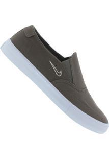 Tênis Slip On Nike Sb Portmore Ii Solarsoft - Masculino - Cinza Escuro