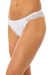 Calcinha Calvin Klein Underwear Tanga Renda Branca