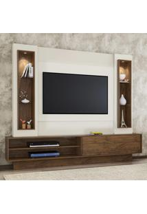 Painel Para Tv Tb129L Com Led Off White/Nobre - Dalla Costa