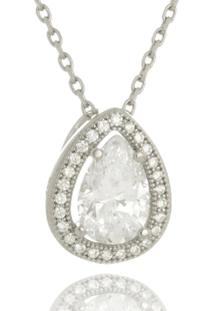 Colar Le Diamond Gota De Zircônia Ródio - Kanui