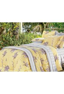 786e057183 ... Kit Vilela Enxovais Colcha Casal Queen Craft 3 Pçs Vogue Amarelo