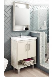 Gabinete Compacto Para Banheiro Com Nicho E Calcare - - Dafiti