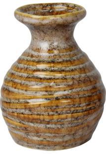 Vaso Makari Bege Em Cerâmica