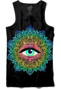 ... Camiseta Regata Long Beach Psicodélica Olho Que Tudo Vê Sublimada Preto 6ad529b7cbe