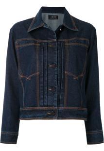 A.Brand Jaqueta Jeans Com Pespontos - Azul