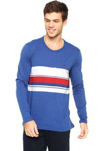 Camiseta Polo Play Listras Azul