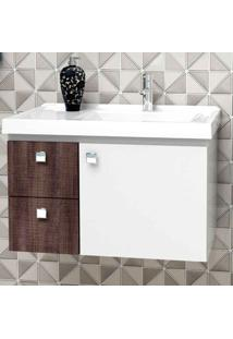 Gabinete De Banheiro Moara 38,3X59,6Cm Branco Com Dakota Cozimax