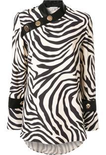 Layeur Blusa Com Estampa De Zebra - Branco