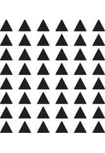 Adesivo De Parede Triângulos Pretos 168Un