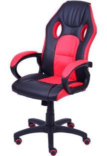 Cadeira Office Gamer- Vermelha & Preta- 117X46X51Cm