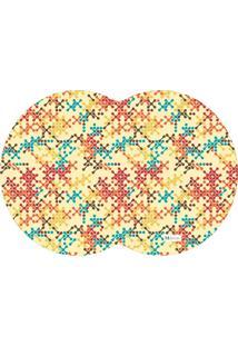 Tapete Pet Mdecore Geométrico Abstrato Bege 54X39Cm
