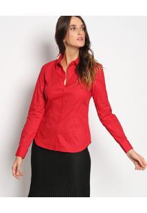 Camisa Lisa Com Bordado- Vermelhavip Reserva