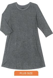 Vestido De Molecotton Cinza