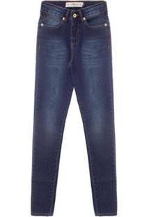 Calça Jeans Feminina Aleatory Dark - Feminino-Azul