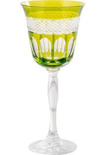 Taça De Cristal 170Ml Verde Lodz