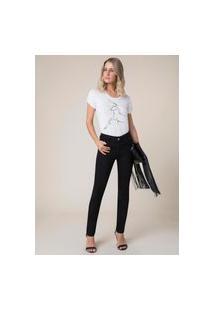 Calça Jeans Marie Skinny Bordado