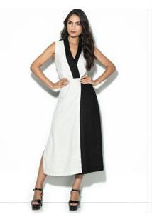 Vestido Bicolor Branco