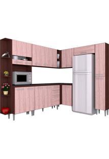 Cozinha Compacta 8 Peças Karina -Poquema - Capuccino / Amêndoa