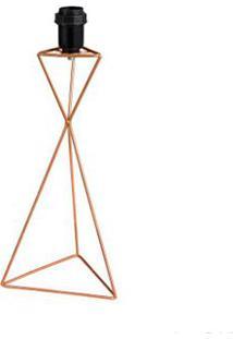 Base Para Abajur Triangular 36Cm Cobre Ls Ilumina