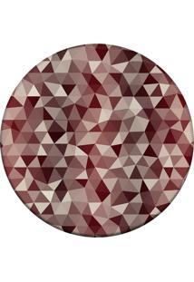 Tapete Love Decor Redondo Wevans Abstrato Vermelho 94Cm - Vermelho - Dafiti