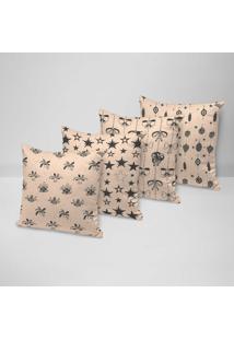 Kit 4 Capas Para Almofadas Love Decor Decorativas Basic Elements