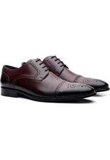 Sapato Tom Lord Derby Owen Masculino - Masculino-Vinho
