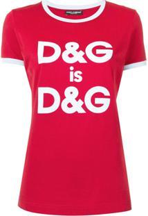 Dolce & Gabbana Blusa Com Logo - Vermelho