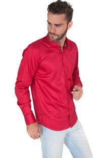 Camisa Lupim Slim Fit Rosa Escuro