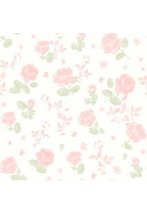 Papel De Parede Coleção Bambinos Rosa Branco Flores 3361 Bobinex