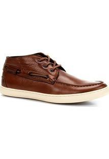 Sapatênis Couro Shoestock Sider Cano Alto Masculino