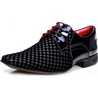 491f0e512d Sapato Social Calvest Em Couro Verniz Preto