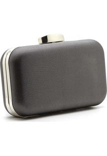 Bolsa Royalz Clutch Munique Preto Cinza
