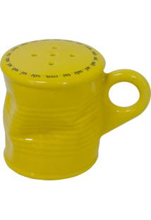 Saleiro Lata Amassada 90G Cerâmica Amarela Mondoceram Gourmet