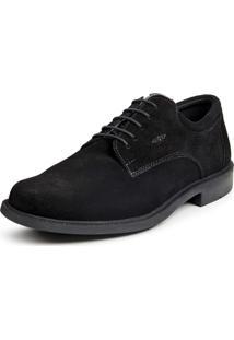 Sapato Calprado Camurca Preto
