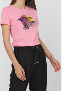 Camiseta Hurley Beachside Rosa - Kanui