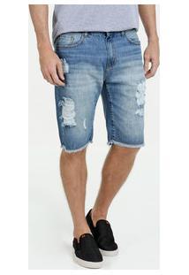 Bermuda Masculina Jeans Destroyed Marisa