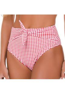 Calcinha Hot Pant Com Amarraã§Ã£O- Vermelha & Branca- Use Flee