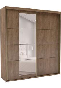 Guarda-Roupa Casal Com Espelho Eleganza L 2 Pt 4 Gv Ébano