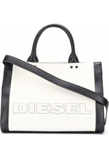 Diesel Bolsa Tote Color Block Com Logo - Neutro